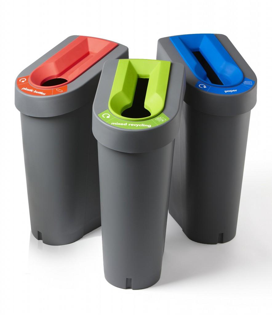 gerecycled kunststof afvalbak